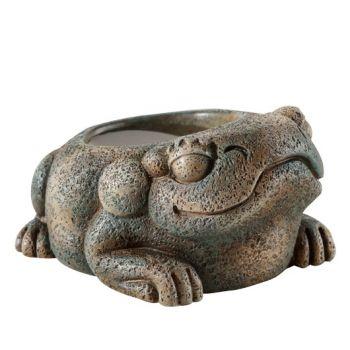 Aztec miska na wodę żaba