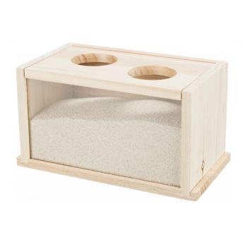 Drewniany basen do kąpieli piaskowych dla myszy i chomików