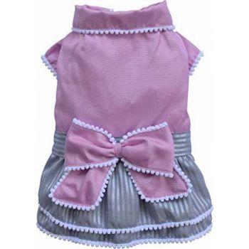 Sukienka z kokardą różowa