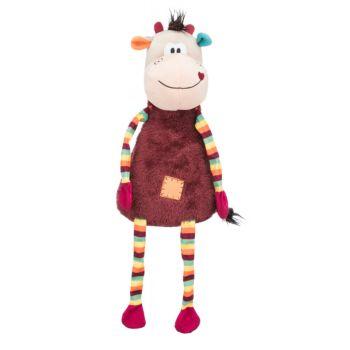 Krowa pluszowa kolorowa zabawka dla psa 53 cm