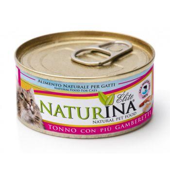 Karma dla kotów z tuńczykiem i krewetkami 70 g