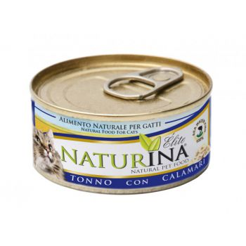 Karma dla kotów z tuńczykiem i kalmarami 70 g