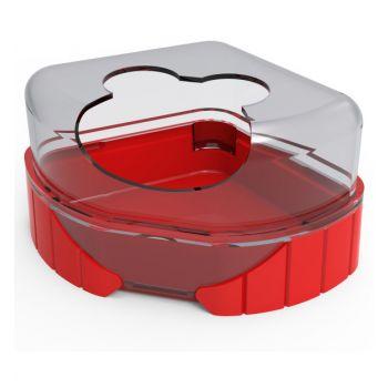 Rody 3 toaleta dla gryzoni czerwona