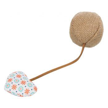 Piłka z sercem jutowa 4,5 cm