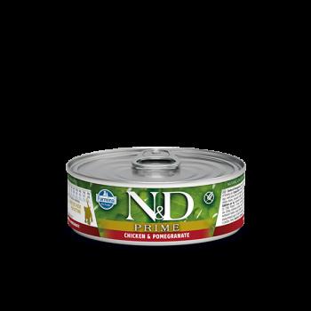 N&D Prime karma mokra dla kociąt z kurczakiem i granatem 80 g