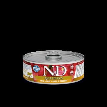 N&D Quinoa Skin and Coat karma mokra z przepiórką i kokosem 80 g