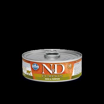 N&D Pumpkin kamra mokra z kaczką i dynią 80 g