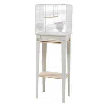 Chic Loft klatka ze stojakiem S biała
