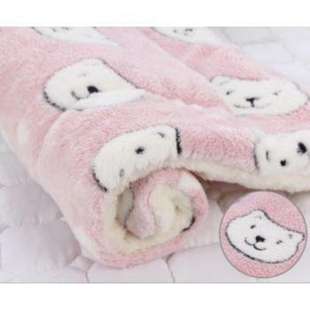 Kocyk w kotki różowy 61 x 42 cm