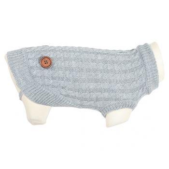Dandy sweterek dla psa szary z guzikami