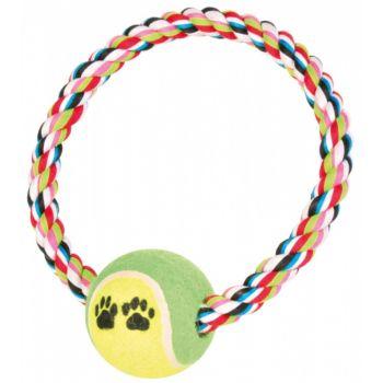 Denta Fun ring ze sznura z piłką tenisową