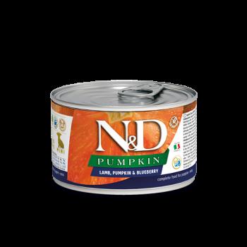 N&D Pumpkin Puppy Mini z jagnięciną i borówka 140 g