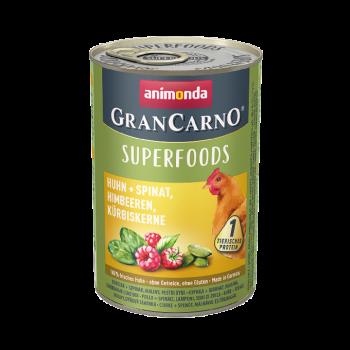 Gran Carno Superfoods karma z kurczakiem, szpinakiem i malinami 400 g