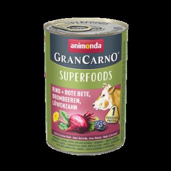 Gran Carno Superfoods karma z wołowiną, burakiem i jeżynami 400 g