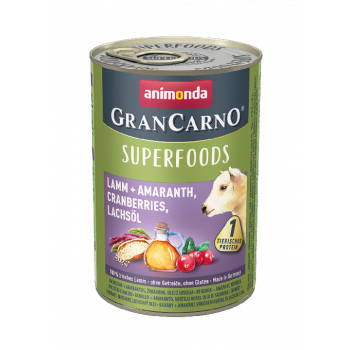Gran Carno Superfoods karma z jadnięciną, amarantusem i żurawiną 400 g