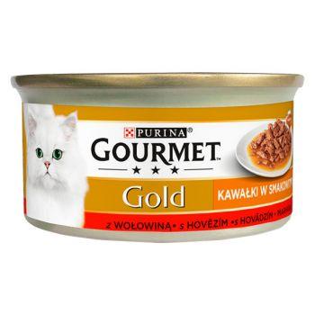 Karma Gold Sauce Delight karma dla kota z wołowiną w sosie 85 g