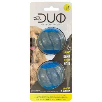 Duo Ball piłki błyszczące/piszczące 2 szt. 6,3 cm