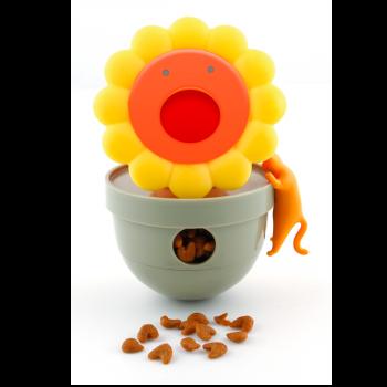 Słonecznik na przysmaki zabawka dla kota