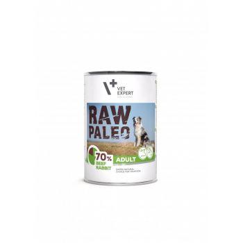 Raw Paleo karma dla psa z wołowiną i królikiem 400 g
