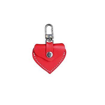 Adresówka skórzana serce czerwone
