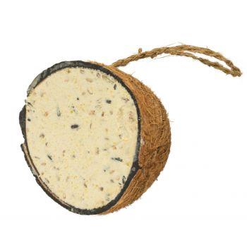 Karma tłuszczowa dla ptaków w połówce kokosa 200 g