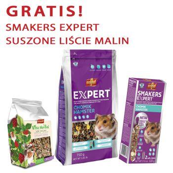 Expert karma pełnoporcjowa dla chomika 750 g + gratis Smakers Expert i Vita Herbal suszone liście malin 30 g