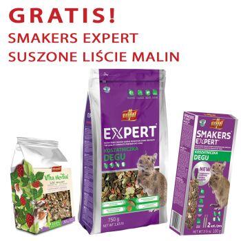 Expert karma pełnoporcjowa dla koszatniczki 750 g + gratis Smakers Expert i Vita Herbal suszone liście malin 30 g