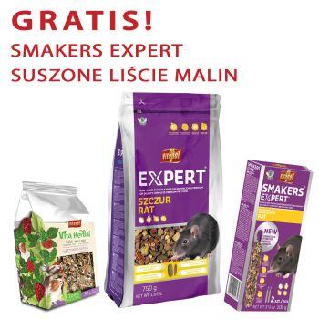 Expert karma pełnoporcjowa dla szczura 750 g + gratis Smakers Expert i Vita Herbal suszone liście malin 30 g