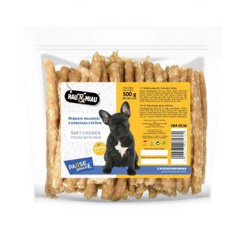 Paluszki z kurczakiem i ryżem przysmak dla psa 500 g