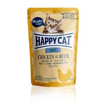 HAPPY CAT ADULT KURCZAK/KACZKA SASZETKA 85 G