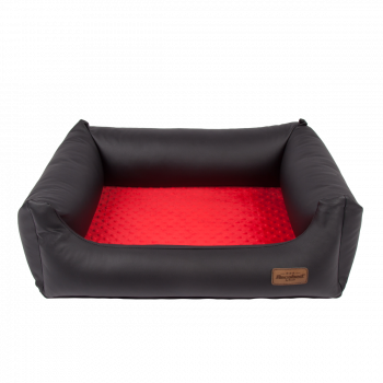 Lincoln kanapa czarno-czerwona