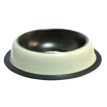 Miska na gumie malowana brązowa 2,7 l