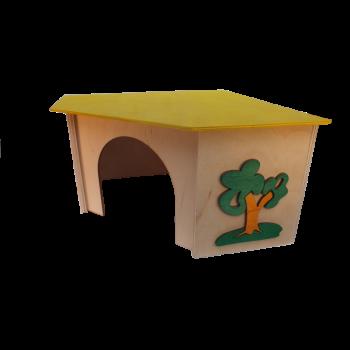 Domek narożny duży 27,5x27,5x13,5 cm