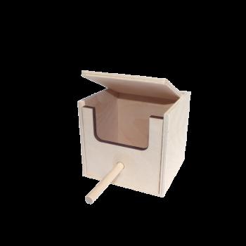 Domek lęgowy mały 12,5 x 12,5 x 12,5 cm
