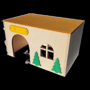 Domek drewniany 24,5x16x16 cm