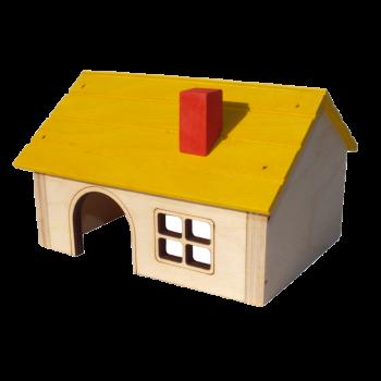 Domek z kominkiem mały 13x10x8,5 cm