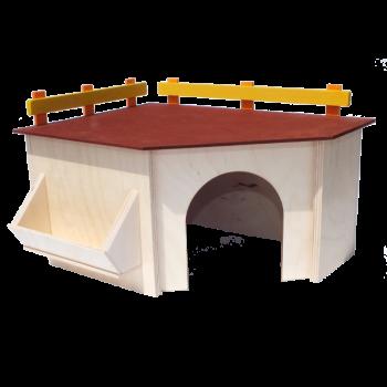 Domek z karmidłem 29x27x15 cm