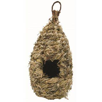 Lęgówka dla ptaków z siana 13 x 30 cm