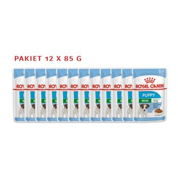 Mini Puppy karma mokra dla szczeniąt pakiet 12 x 85 g