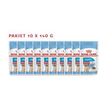 Medium Puppy karma mokra dla szczeniąt pakiet 10 x 140 g