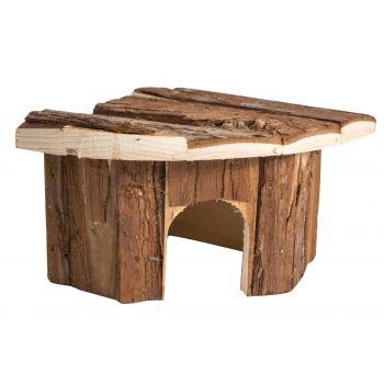 Domek drewniany dla gryzoni narożny 15x15x11 cm
