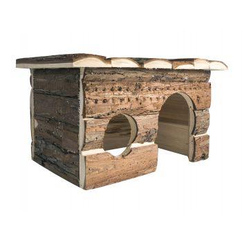 Drewniany domek dla gryzoni 28x18x18 cm
