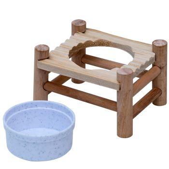 Stojak z miską dla gryzoni 14x10x8,5 cm 150 ml