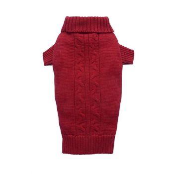 Sweter golf czerwony