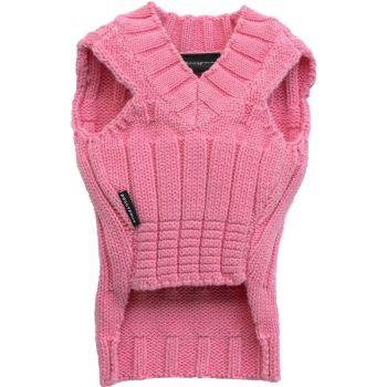 Sweter klasyczny różowy