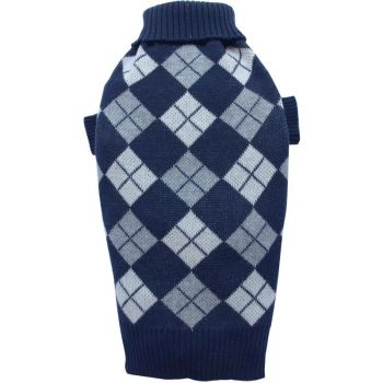 Sweter w romby ciemnoniebieski