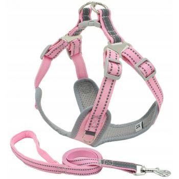 Szelki bezuciskowe dla psa różowe XXS