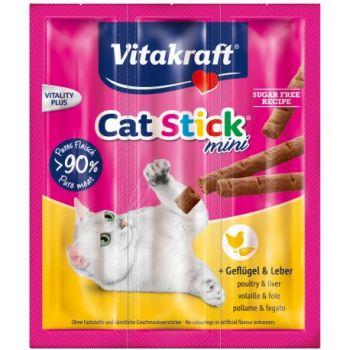 Przysmak Cat Stick Mini z drobiem i wątróbką 3 szt 18 g