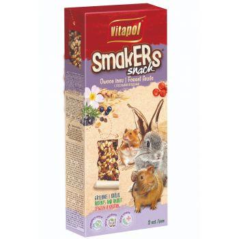 Smakers Snack owoce lasu dla gryzoni i królika 2 szt 90 g