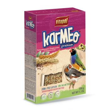 Karmeo pokarm pełnoporcjowy dla zeberek i ptaków egzotycznych 500 g